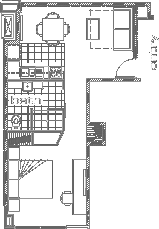 Ontario Deluxe 1 Bedroom Apartment Floor Plan